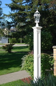 Liberty Lamp Post w/Steel Ground Mount